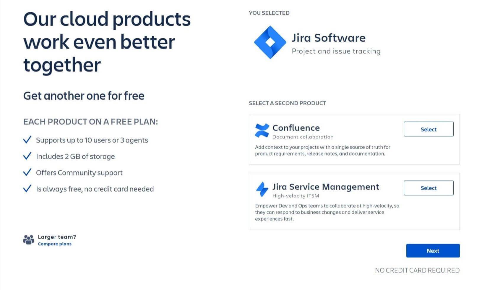 Jira - wybór produktów dodatkowych (Confluence)