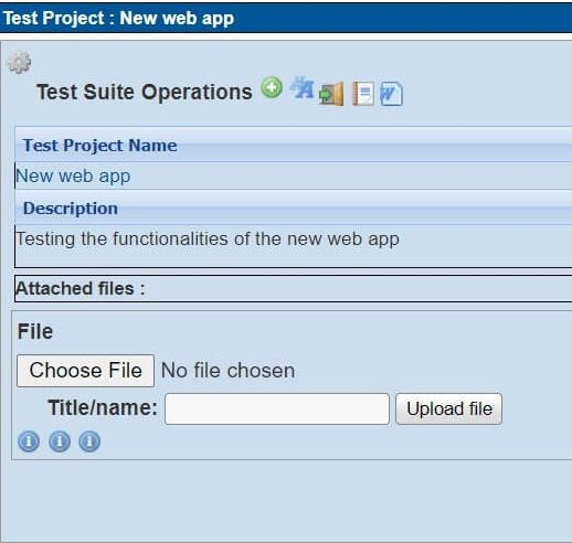 Test suite operations