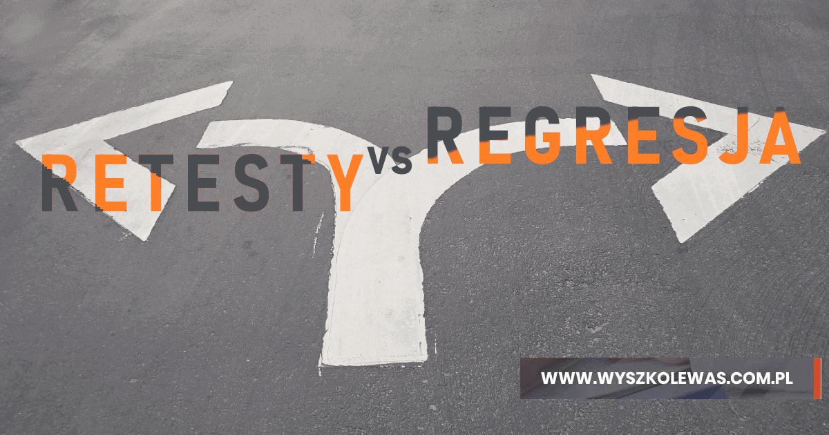 Porównanie retestów z testami regresyjnymi