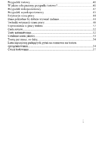 e-book ABC Testowania Oprogramowania spis treści strona 2