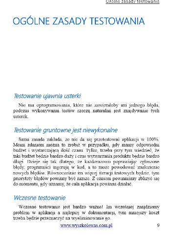 e-book ABC Testowania Oprogramowania ogólne zasady testowania