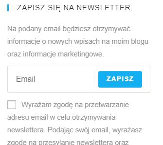 tworzenie tablicy decyzyjnej dla formularza zapisu na newsletter