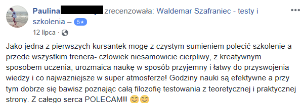 rekomenacja zrodlo facebook